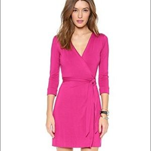 Hot Pink DVF Julian Wrap Dress